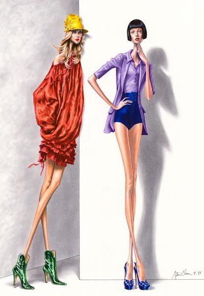 Dibujos de moda con anorexia