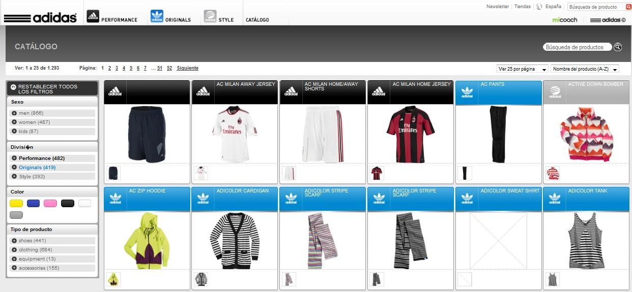 catalogo adidas
