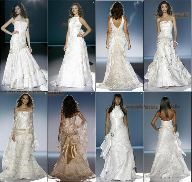Distintos tipos de vestidos de novia