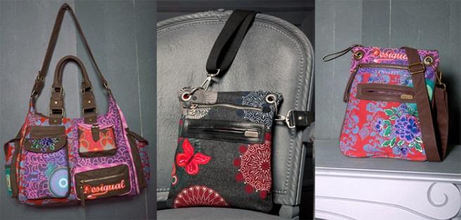 variedad de bolsos colores y estampados