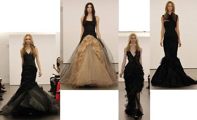 Vestidos negros de novia de Vera Wang