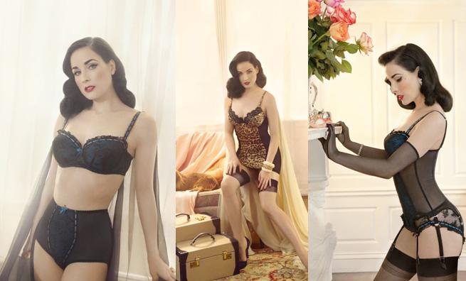 Dita von teese se estrena como dise adora de ropa interior for Como desmanchar ropa interior