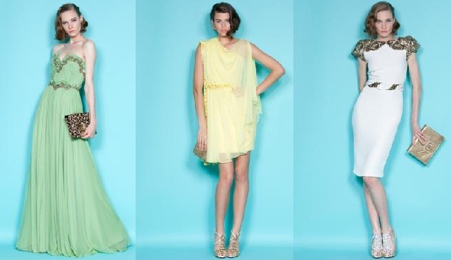 Vestidos de fiesta primavera-verano 2012