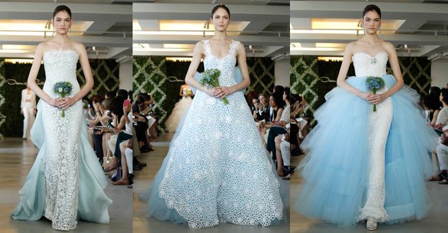 las novias azules de oscar de la renta Las novias azules de Oscar de la Renta