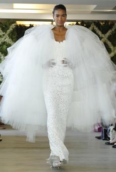 new oscar de la renta wedding dresses spring 2013 002 Las novias azules de Oscar de la Renta