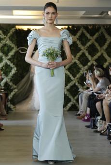 new oscar de la renta wedding dresses spring 2013 003 Las novias azules de Oscar de la Renta