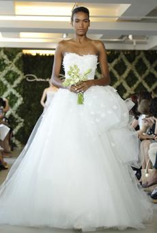 new oscar de la renta wedding dresses spring 2013 017 Las novias azules de Oscar de la Renta