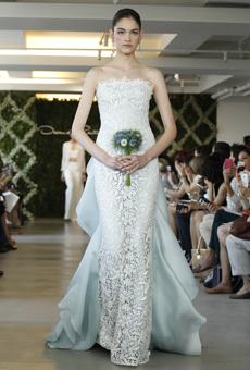 new oscar de la renta wedding dresses spring 2013 018 Las novias azules de Oscar de la Renta