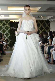 new oscar de la renta wedding dresses spring 2013 028 Las novias azules de Oscar de la Renta