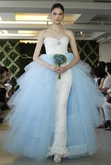 new oscar de la renta wedding dresses spring 2013 033 Las novias azules de Oscar de la Renta