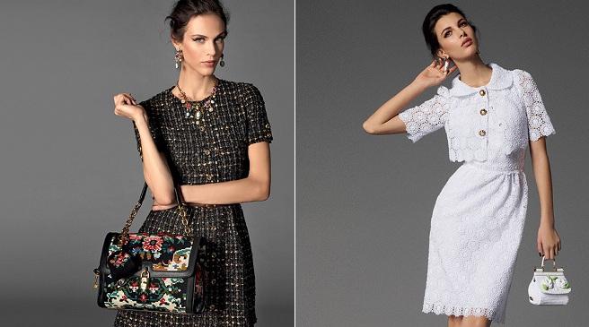 La colección de Dolce  Gabbana está divida en cuatro estilos diferentes Mediterráneo, Barroco, Sicilia y Sera. Sin embargo, se pueden distinguir dos