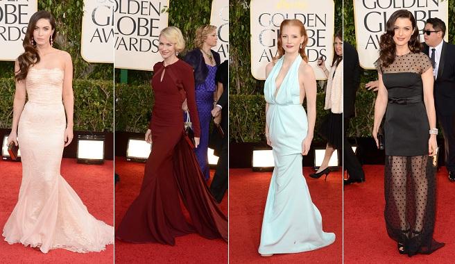 La alfombra roja de los Globos de Oro 2013
