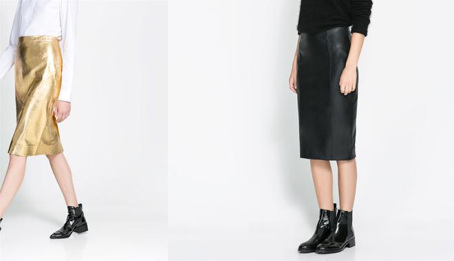 faldas_cuero_metalizada y negra