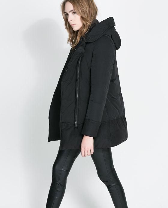 6b87e649860 abrigo plumas impermeable mujer