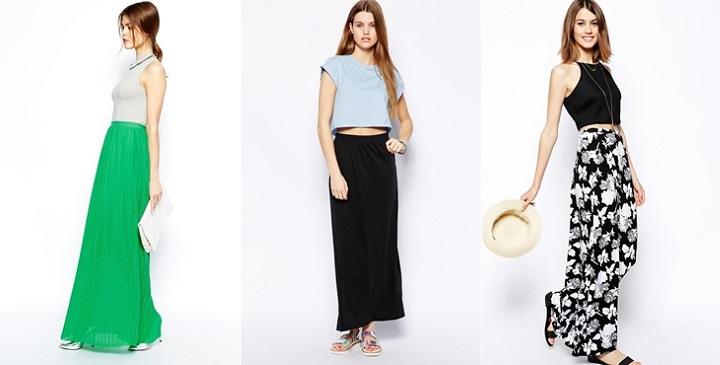 Faldas largas para el verano estilos de moda moda - Moda de este verano ...