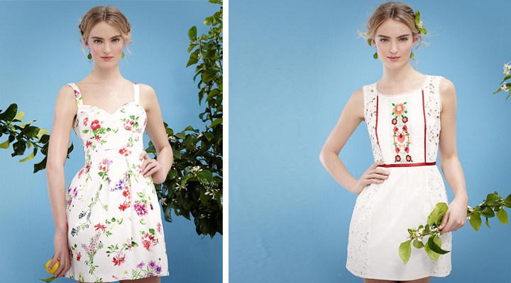 Vestidos de fiesta Blanco primavera-verano 2014