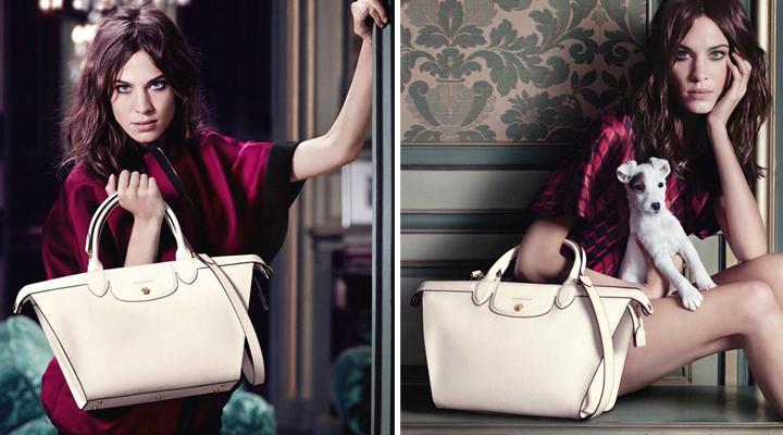 Bolsos de Longchamp con Alexa Chung otoño 2014