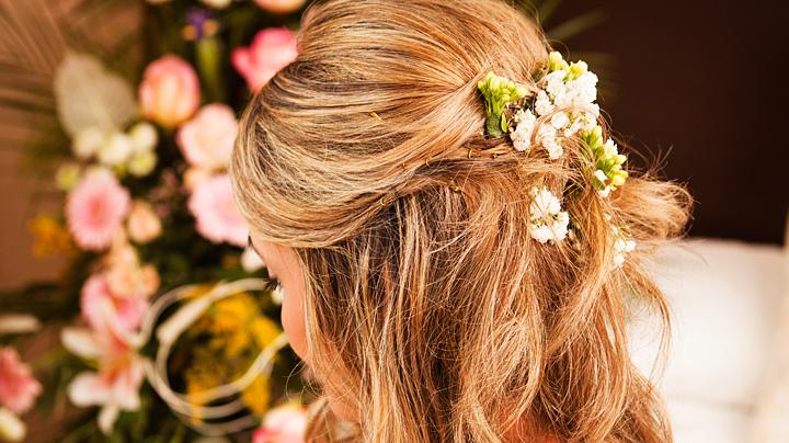 Recogidos florales para novias