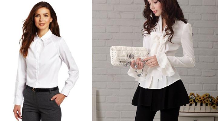Combinar una camisa blanca