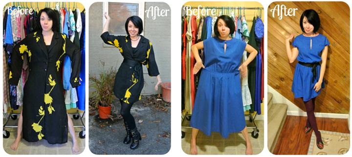 Cómo transformar ropa de segunda mano en vestidos elegantes