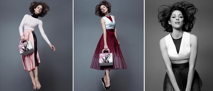 Marion Cotillard presenta el bolso de Dior,