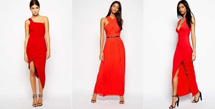 Vestidos para bodas rojos Asos