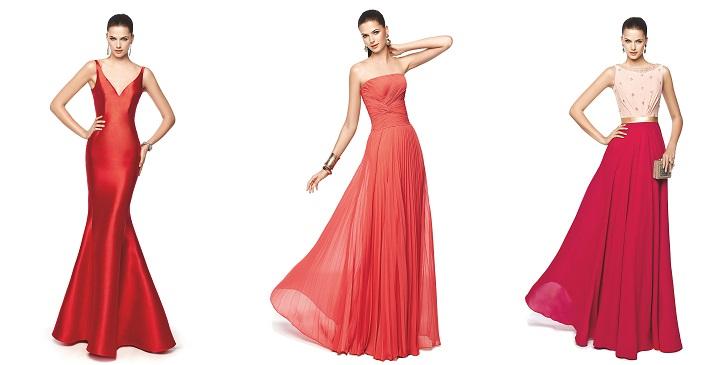 Vestidos para bodas rojos Pronovias