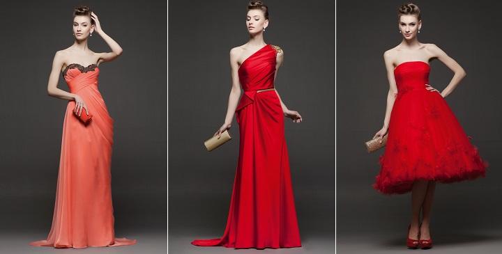 Vestidos para bodas rojos Rosa Clara
