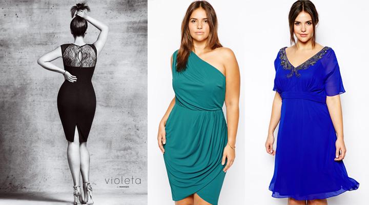 Vestidos fiesta tallas grandes venta online