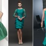 Vestidos verdes para una boda