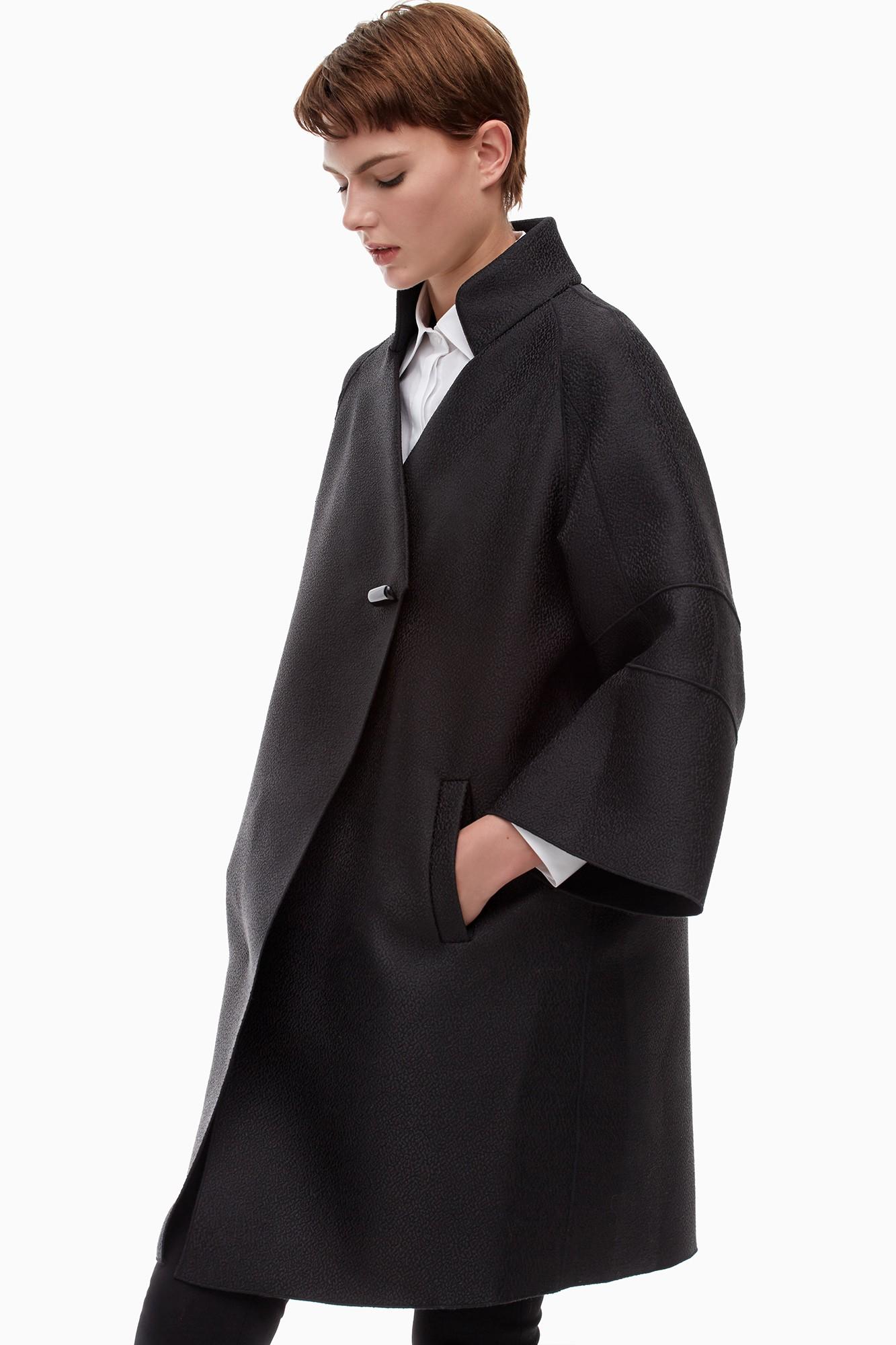 Adolfo dominguez abrigo de corte cocoon brocado for Adolfo dominguez el corte ingles abrigos