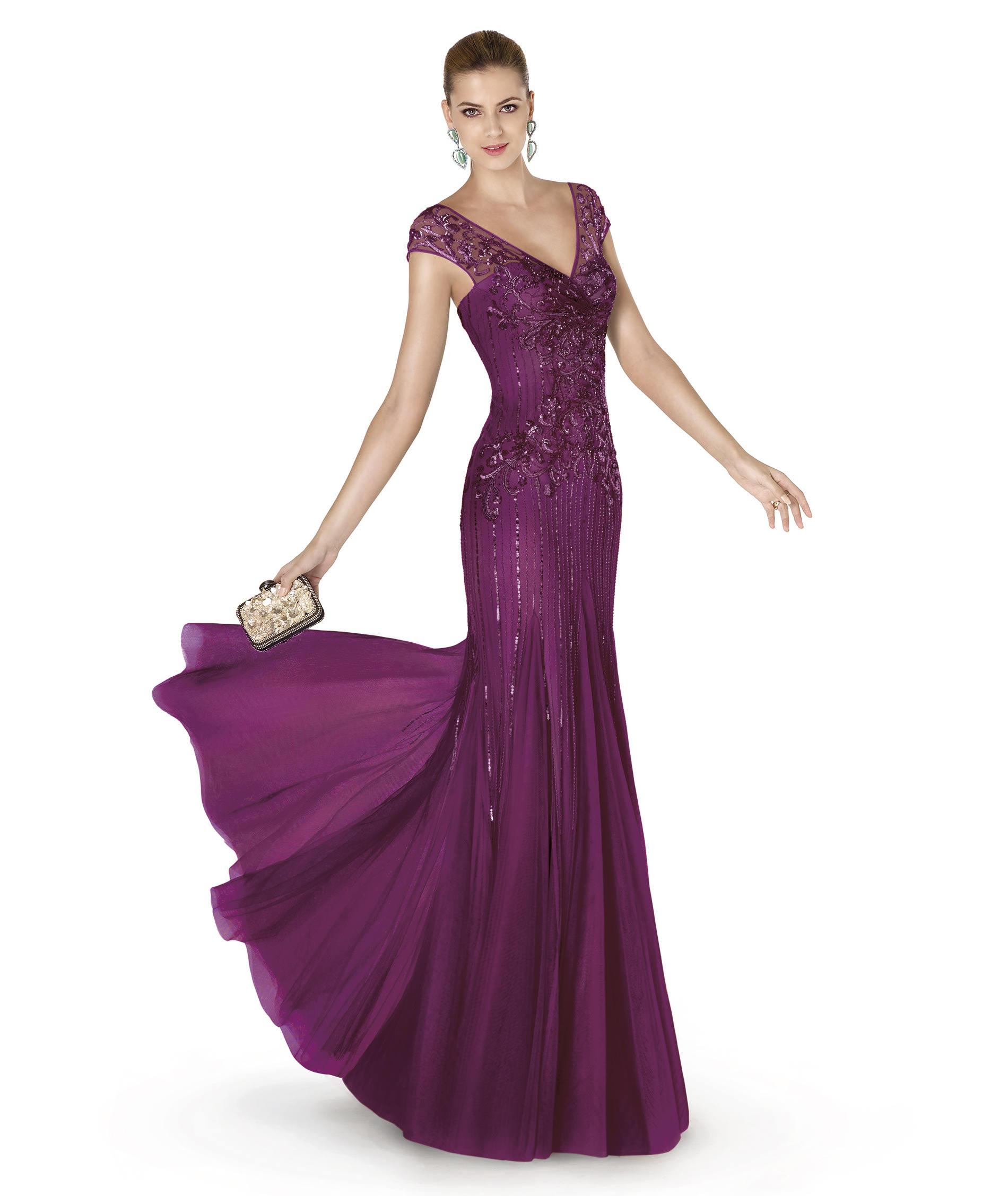 Increíble Vestidos De Fiesta Púrpura 2014 Ideas Ornamento ...
