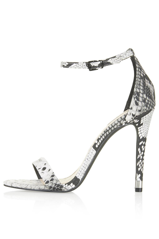 High Heel White Sandals