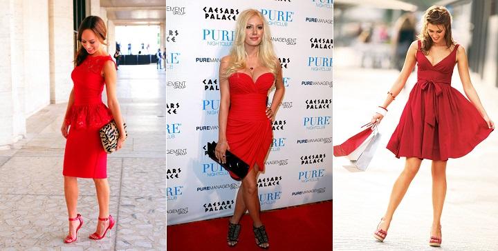 combinar vestido rojo1