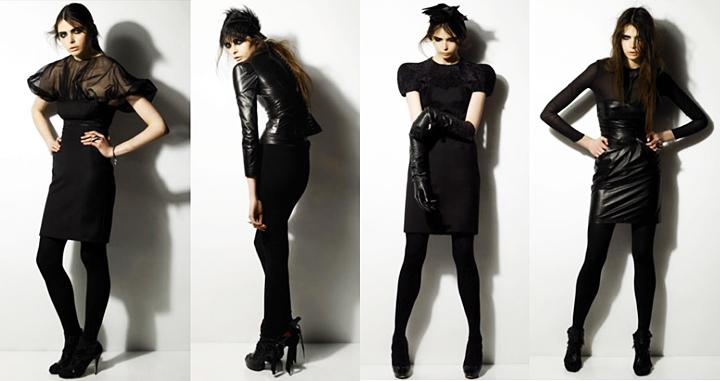Como combinar un vestido negro