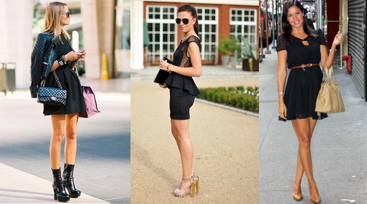 Como se puede combinar un vestido negro
