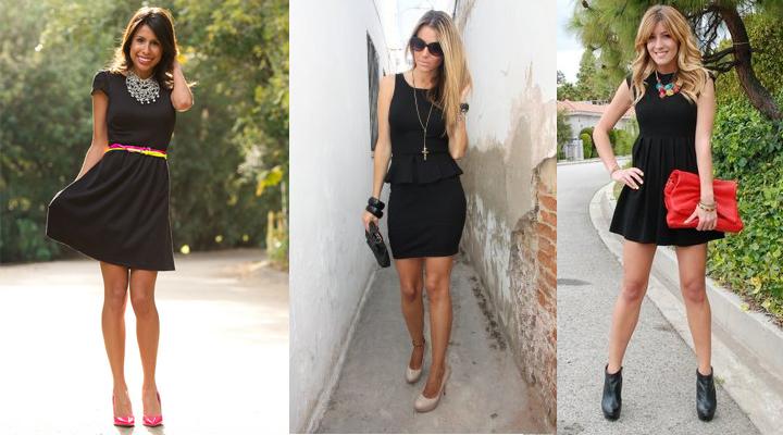 Zapatos Para Un Vestido Negro Corto - Varios Zapatos