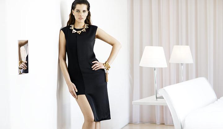 Collar para vestido negro de fiesta