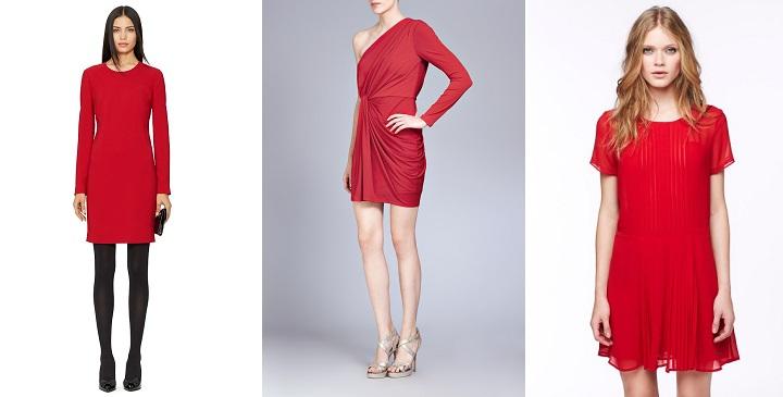vestidos rojos para navidad