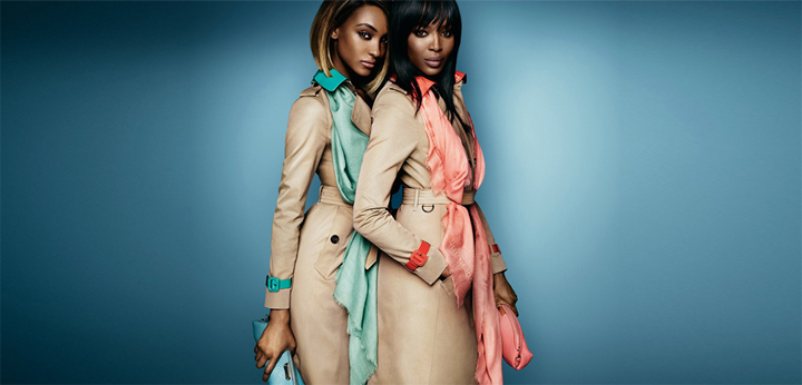 jourdan dunn y naomi campbell para burberry 2015