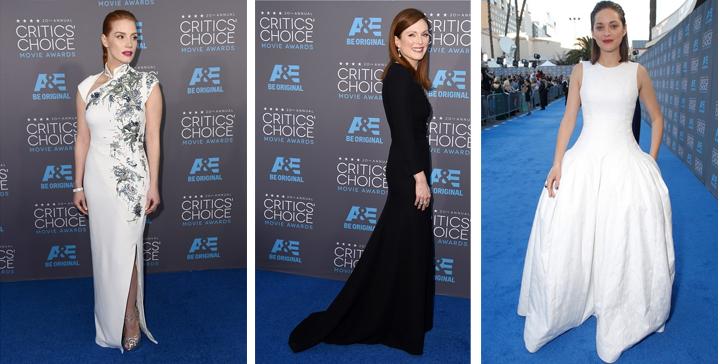 la alfombra roja de los premios critics choice awards 2015