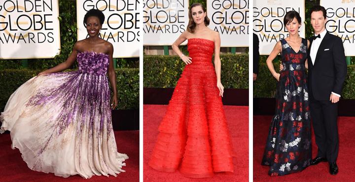 las mas guapas de los globos de oro 2015