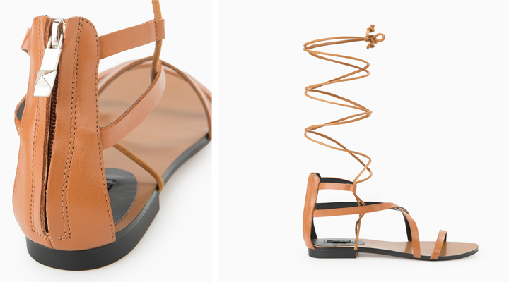 sandalias de gladiador de mango primavera 2015