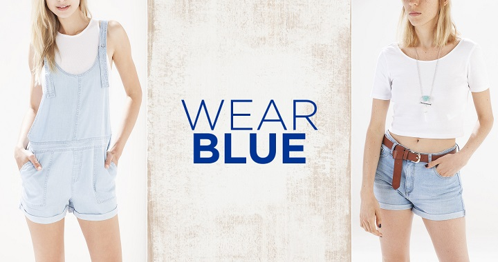 Wear blue Stradivarius