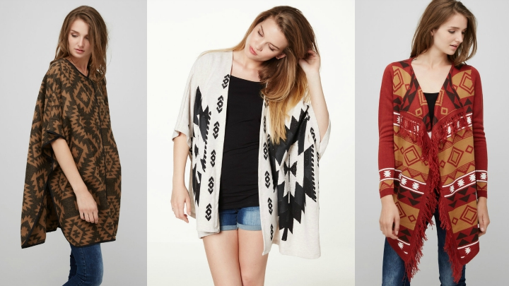 ponchos tribal