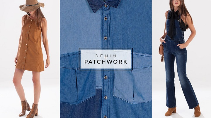 Denim Patchwork Stradivarius