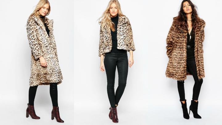 abrigos estampado leopardo
