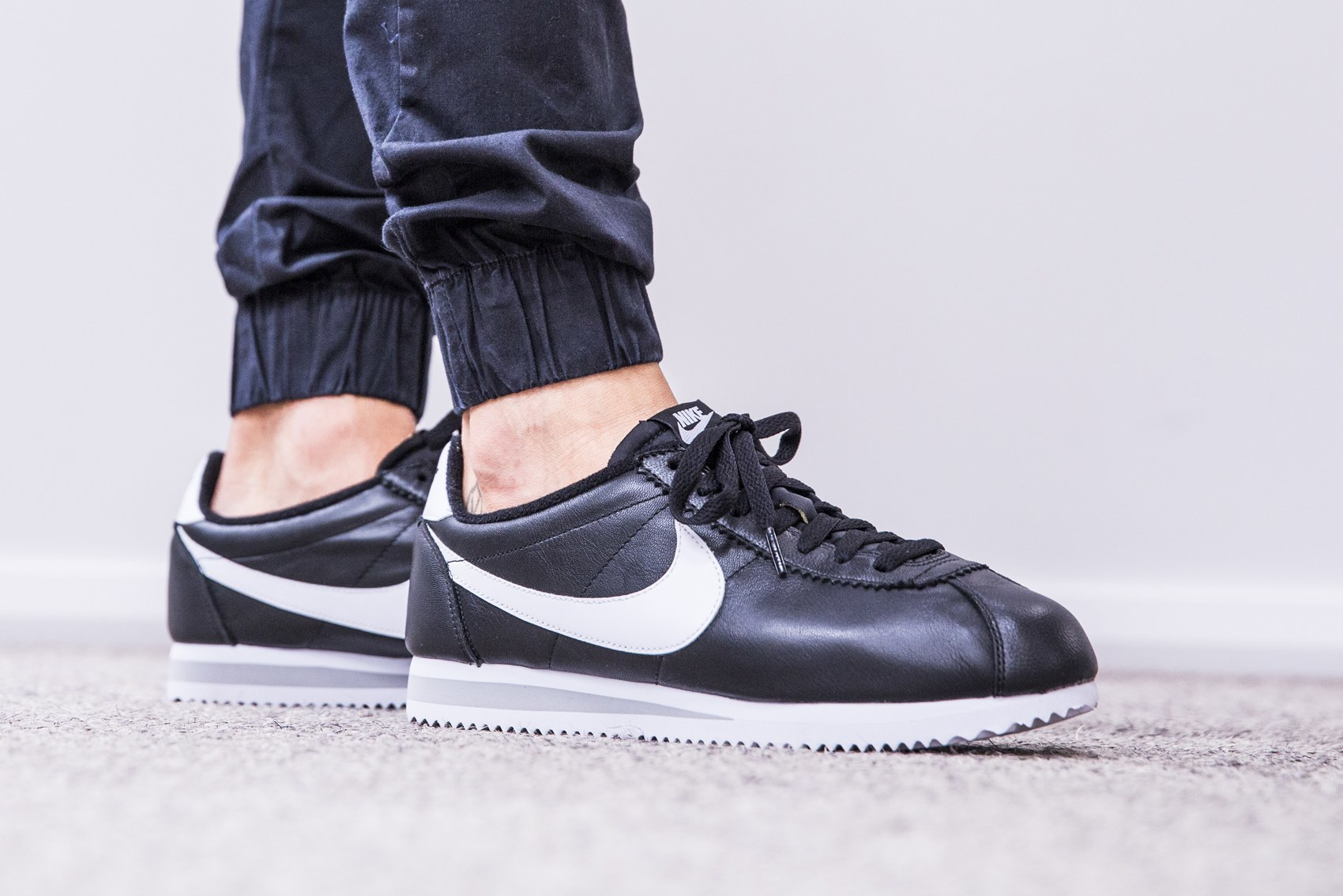Womens Nike Cortez Black Leather
