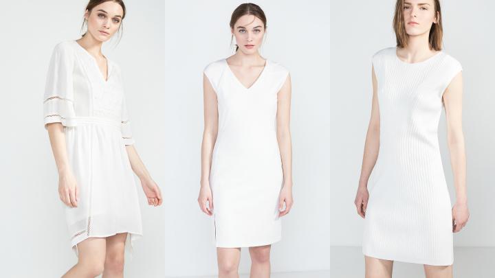 cortefiel vestidos blancos