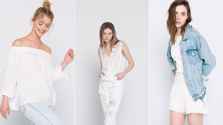 All White Pull and Bear